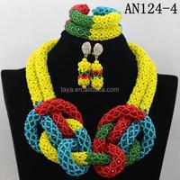 nigerian wedding jewelry african beads jewelry sets of yellow