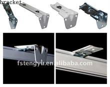 simples e duplas de alumínio trilho de cortina suporte conjuntos