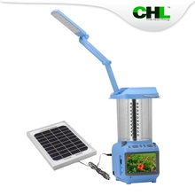 2015 High quality CHL solar mp3 player solar powered with table light