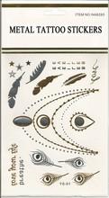 2015 Crystal Diamond Body Tattoo Sticker Metallic Flash Tattoos Jewelry Inspired Flash Tattoo