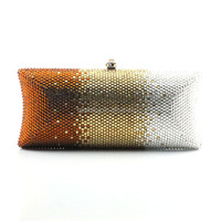 Fashion Pillow Shaped Handmade Women Evening Crystal Ladies Party Clutch Purses