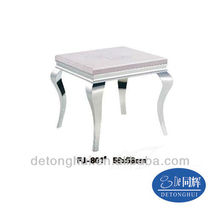 corner table furniture,with stainless steal frame(FJ-801#)