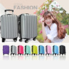 super light black funky luggage abs plastic material press-resistance abs luggagge