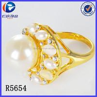Latest products in market top selling white pearl god finger rings