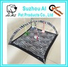 Zebra Pattern Pet Play Scratch Bed Lounge Hanging Toys and Bells Cat Play Tent