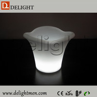 Outdoor furniture hot sale luminous rechargeable color changing remote control illuminated led light carlsberg beer ice bucket