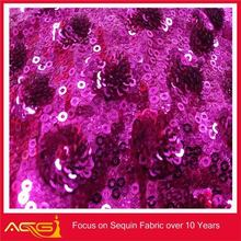 Bright-Colored Sequin Embroidery Mesh Fabric For Chirdren's Clothing furniture accessories pvc edge band