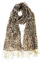 wholesale leopard print grain in stock wool shawl