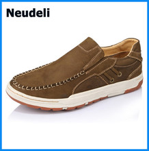 Top Quality Leather Men Casual Shoes Soft Sole Flat Heels Men Loafers Shoes for Sales