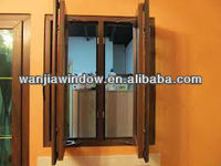 wooden color windows model in house
