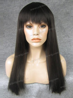 Yaki Straight hair lace wig elegant and natural synthetic hair front wigs