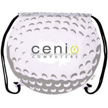 Cute golf ball colorful cinch backpack BDS05