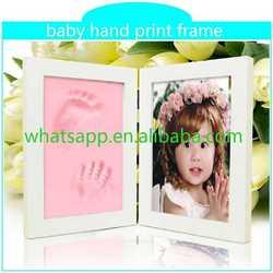 2015 hot baby hand print frame footprint rhinestone transfers