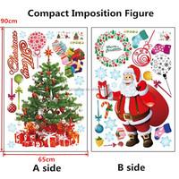 Santa Christmas Xmas Tree Removable WALL Sticker Home Decor Decal Fashion