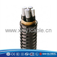 1~35kv PVC Power Cable listed in UL CUL SIRIM 4x35mm2 xlpe insulated power cable