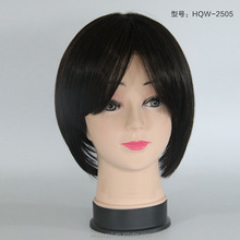 Machine Hand Made 100 Chinses human remy hair silk top lace front wig