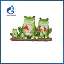 wholesale outdoor resin green frog statues ornaments
