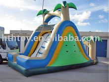 palm tree inflatable swimming pool slides for sale