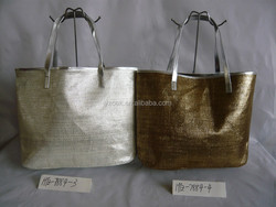 Hot selling Golden printing summer beach paper straw bag