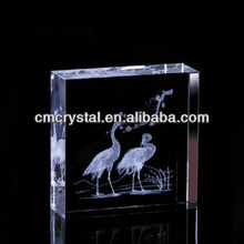 2015 smart crystal laser etched paperweight