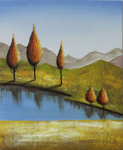 Modern abstract tree decorative oil painting