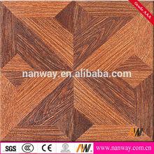 suelo de nogal americano 600x600mm de porcelana de madera de textura azulejo de suelo