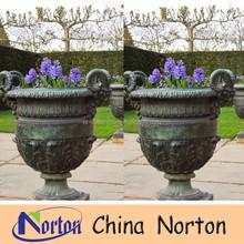 cheap antique garden bronze flower pot NTBF-FL071S