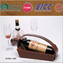 New arrival leather wine holder , leather wine case