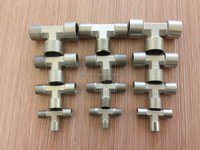 nickle plated brass tee connector , 3 way pipe fitting