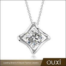 OUXI 2015 cheap price fashion square meaningful pendant necklace