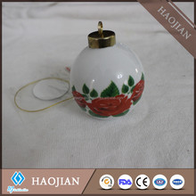 Stock sublimation christmas ceramic bauble christmas tree decoration christmas ornaments