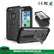 3 in 1 waterproof pc tpu cell phone case for iphone 6 plus cover