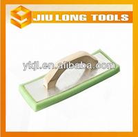 wooden handle sponge aluminum plate plastering trowel float trowel with aluminium plate