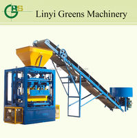 New QT4-24 fully automatic fly ash brick making machine