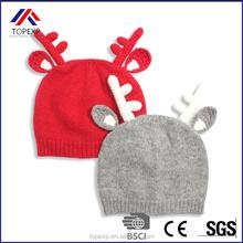 winter knit jacquard crochet hat earflaps with deer