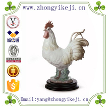 factory custom-made handmade carved fashion polyresin portugal rooster