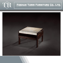 Italian Wooden Base Travertine end table for sale