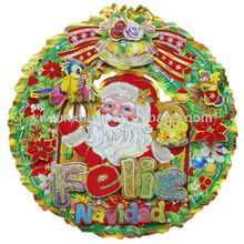 Wholesale 3D Glitter Paper Christmas Wreath Decoration Supplies