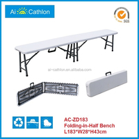 6ft folding bench for picnic,blow mold plastic folding bench