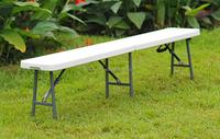Elegant high quality hdpe top steel frame cheap garden folded outdoor portable folding bench SF-ZD185