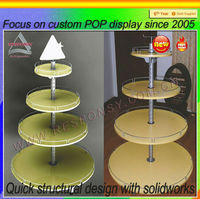 2014 Retail Custom Fashionable 4 tier clear acrylic cake pop display stand