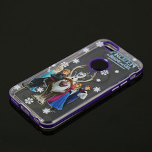 """Color combo design gel rubber plastic for 6g 4.7"""" custom print with image mobile cover"""