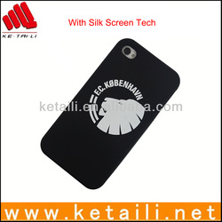 Chinese supplier silk print one color logo phone case