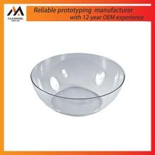 transparent acrylic or polycarbonate bowl prototypes