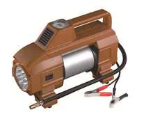 12V mini Car Air Compressor with LED LAMP Mini Car Air Pump Auto tire inflator with DOUBLE CYLINDER