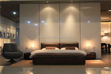 modern classic king size bed white leather beds