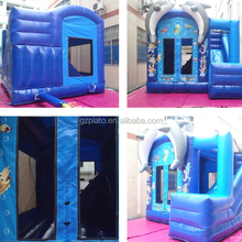 Cartoon dolphin beautiful small inflatable house slide