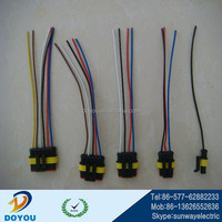 Custom male to female cable assembly motorcycle wiring harness