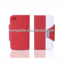 China factory handmade leather mobile phone case for apple iphone4/4s