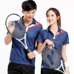 Love Couple Dry Fit Badminton Sport , Polyester Custom T-shirt In Bulk Made In China